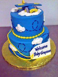 2tier Baby Shower Boys Cake 751