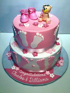 2tier Baby Shower Cake Girls 582