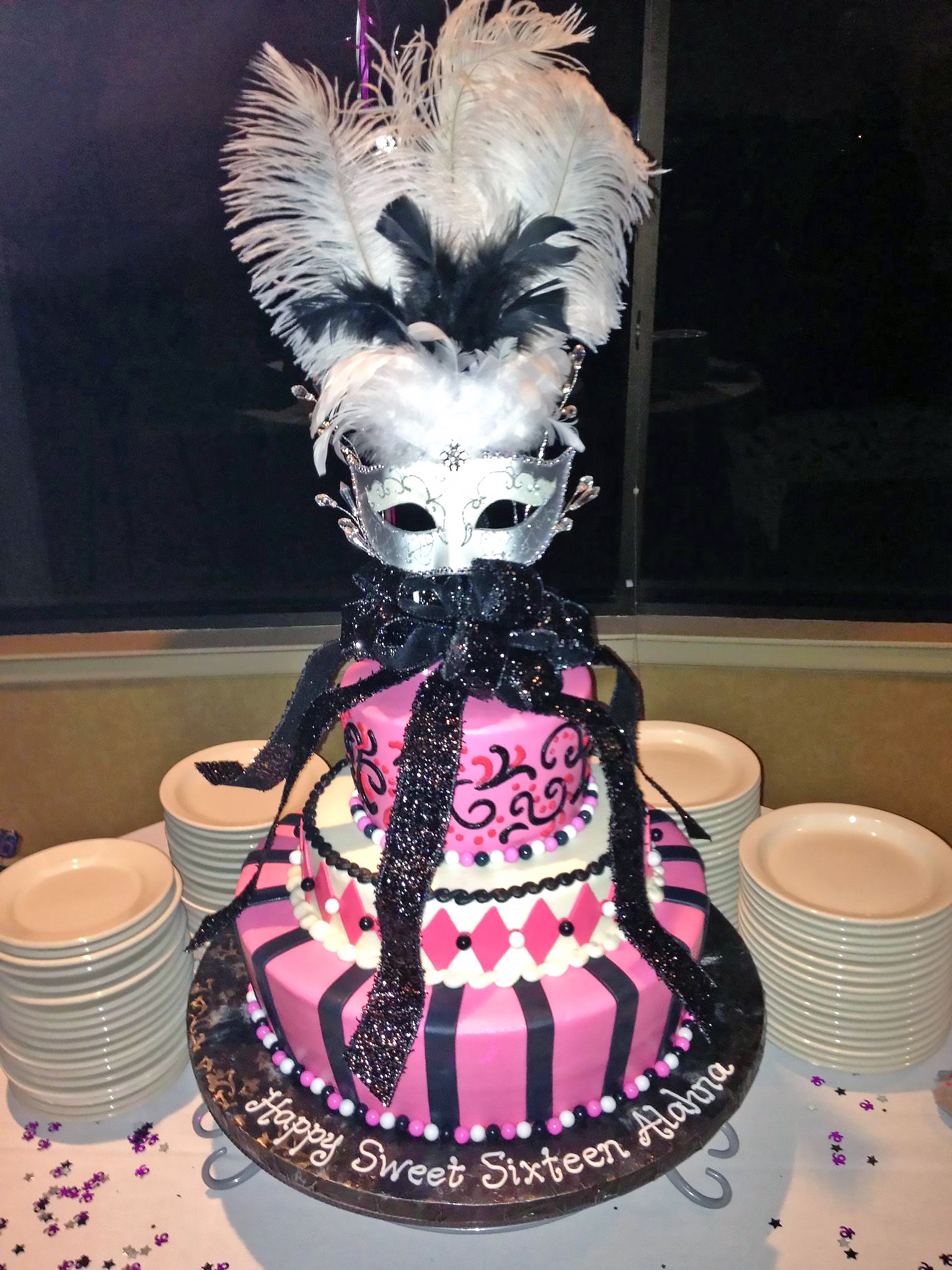 16th-birthday-3tier-cake-girls-masquerade-625