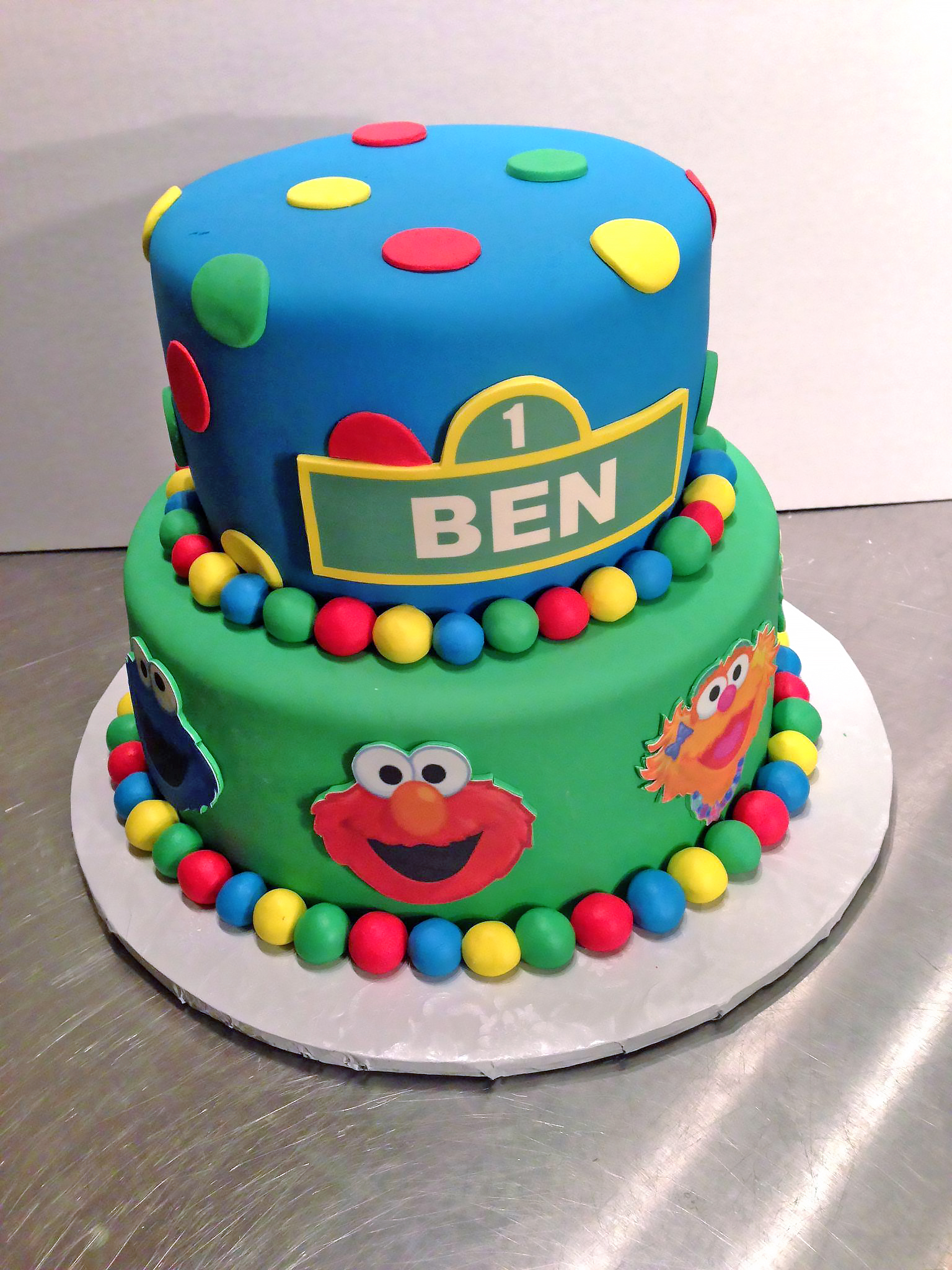 Tremendous Sesame Street Birthday Cakes Hands On Design Cakes Personalised Birthday Cards Paralily Jamesorg