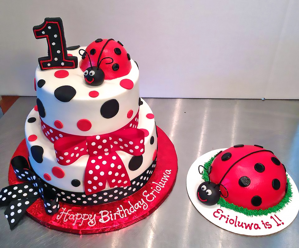 Marvelous Ladybug Birthday Cakes Hands On Design Cakes Personalised Birthday Cards Sponlily Jamesorg