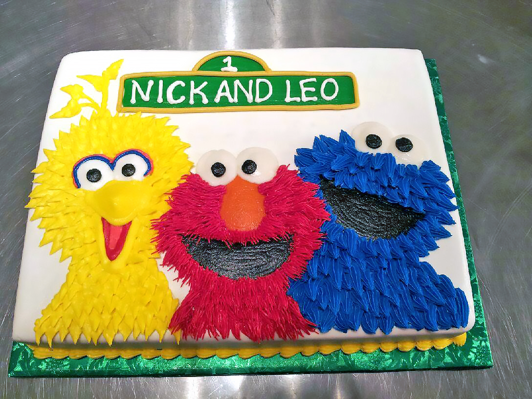 Super Sesame Street Birthday Cakes Hands On Design Cakes Personalised Birthday Cards Paralily Jamesorg
