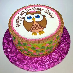 1st birthday cake girls owl 461 300x300 Birthday Cake Delivery In Dallas Texas