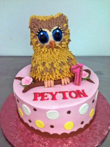 Owl Character Cake