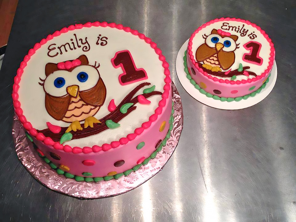 Owl Cake 1st Birthday