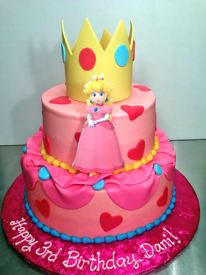 2tier 3rd Birthday Cake Girls Princess 180