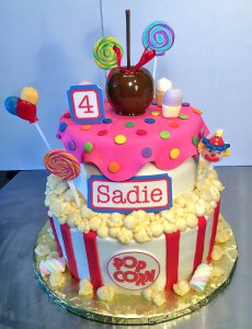 Candy & Popcorn birthday cake