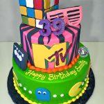 2tier, 80s, Adult, Birthday, Cake, mtv, pacman, rubiks cube