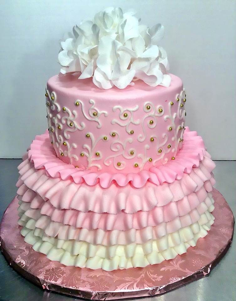2tier Birthday Cake Girls Princess 210