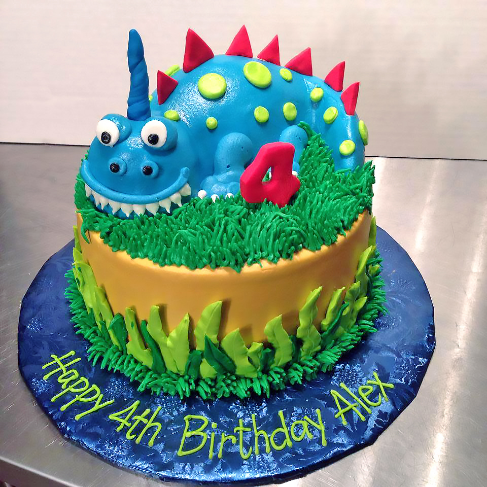 4th Birthday Boys Cake Dragon 557