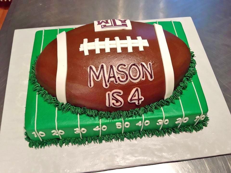 4th birthday boys cake football texas am 889 Birthday Cake Delivery In Dallas Texas