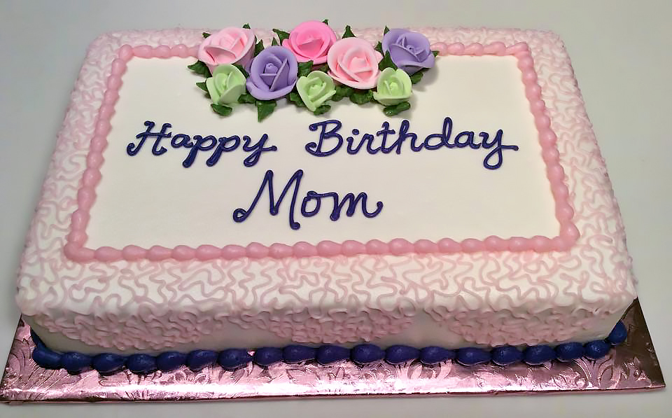 Adult Birthday Cake Flowers 255