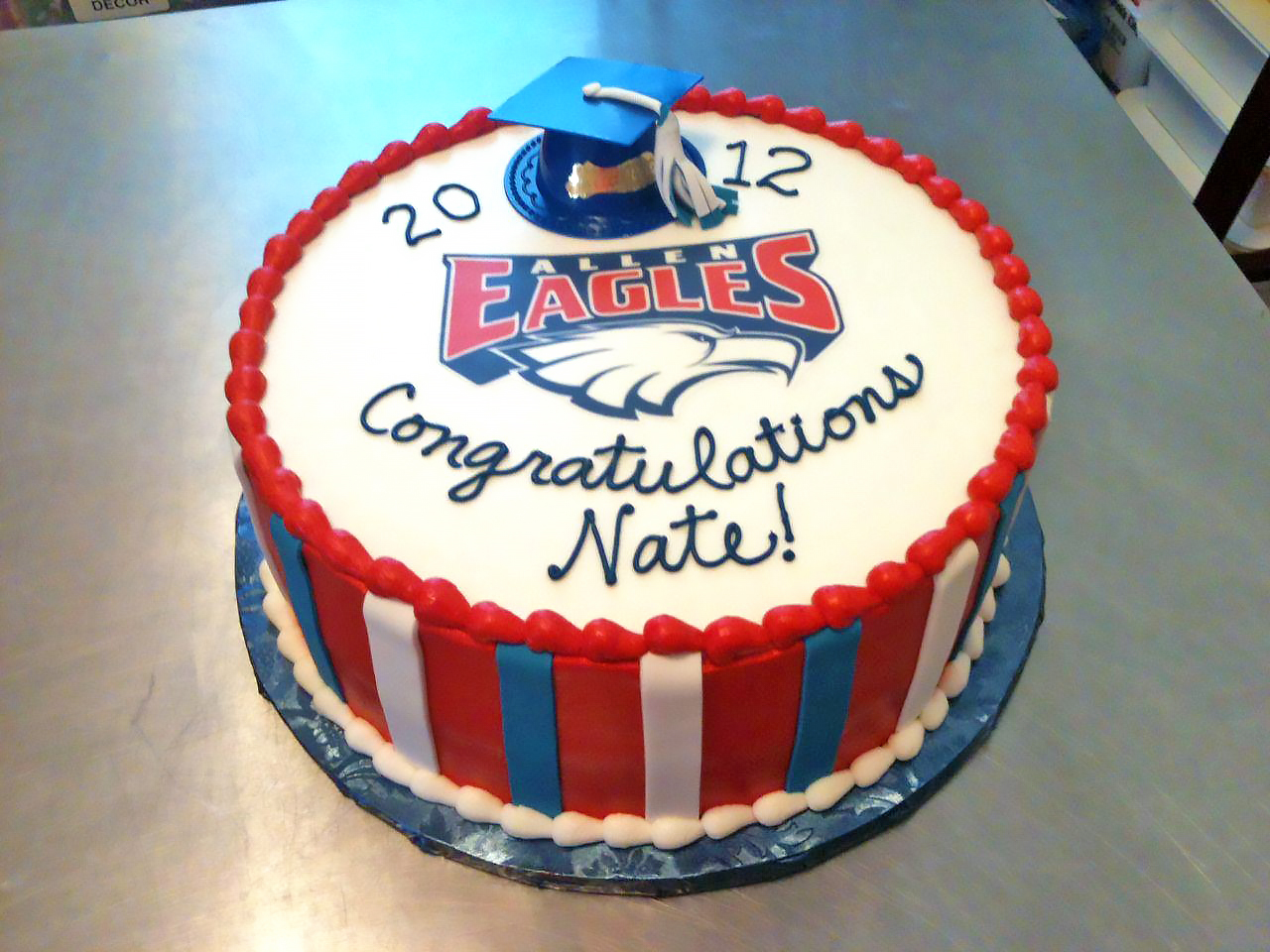 allen eagles cake graduation high school 950 Birthday Cake Delivery In Dallas Texas
