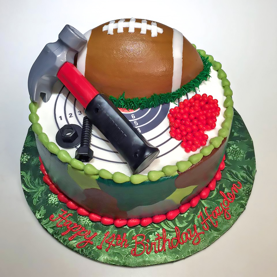 Pleasant Boys Sports Birthday Cakes Hands On Design Cakes Funny Birthday Cards Online Elaedamsfinfo