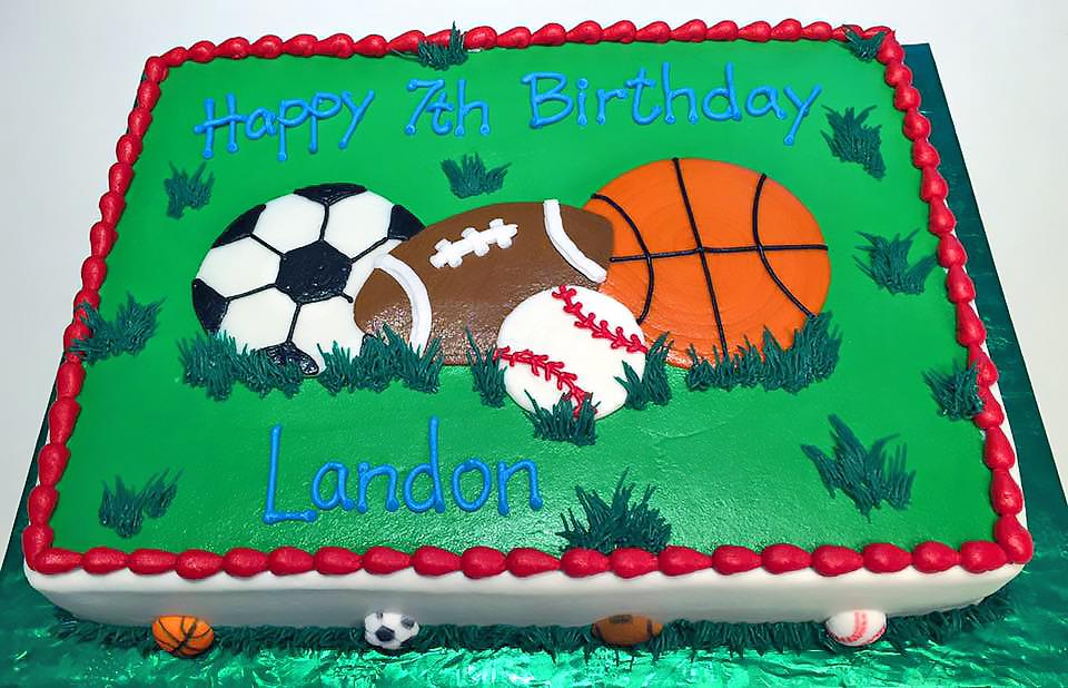 Groovy Boys Sports Birthday Cakes Hands On Design Cakes Personalised Birthday Cards Akebfashionlily Jamesorg