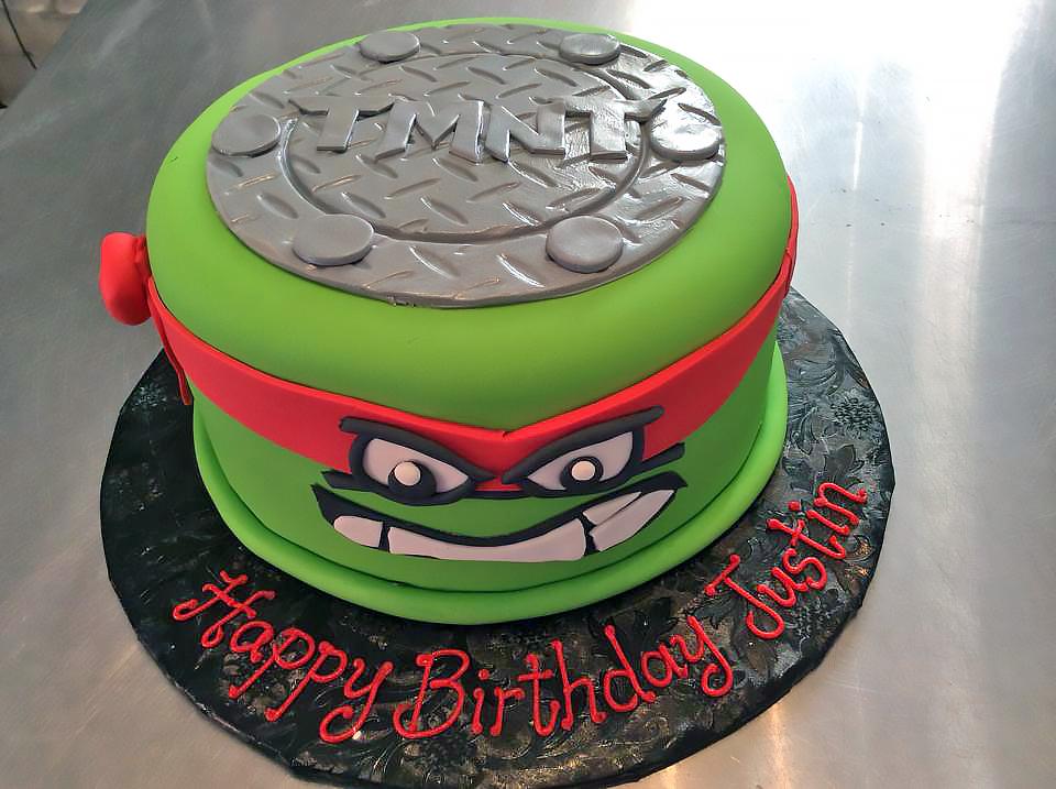Peachy Kids Teenage Mutant Ninja Turtles Birthday Cakes Hands On Design Funny Birthday Cards Online Alyptdamsfinfo