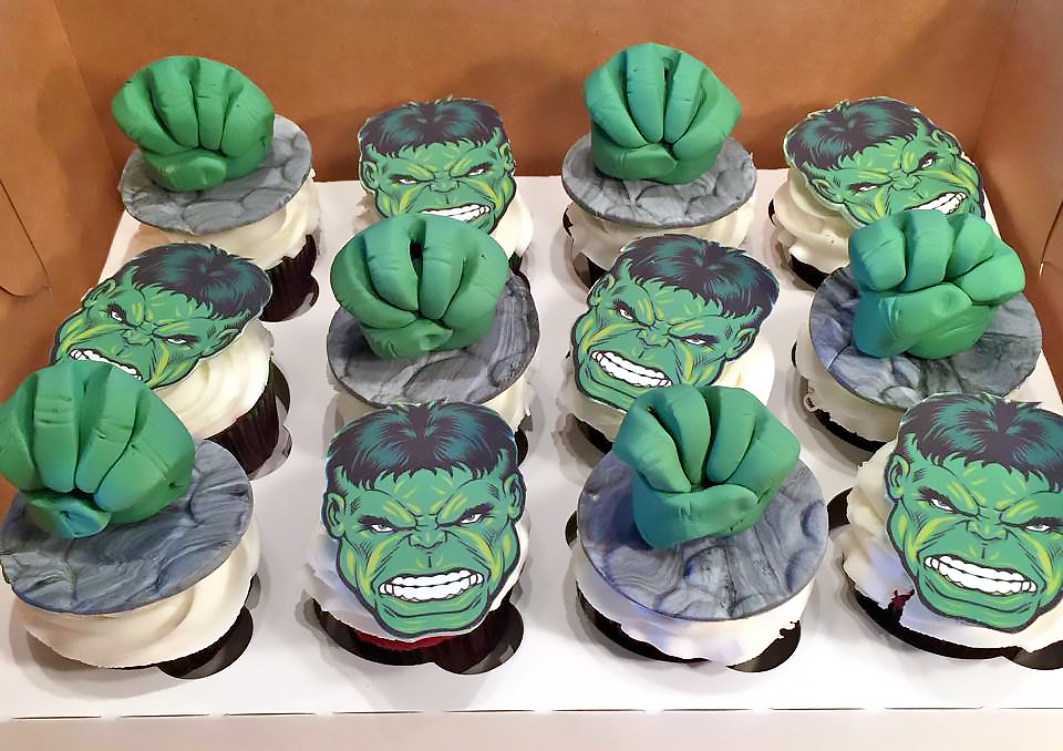 Incredible Hulk Cupcakes