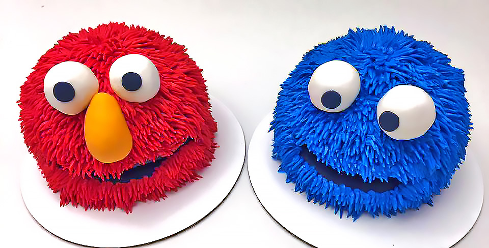 birthday cake cookie monster elmo kids 094 Birthday Cake Delivery In Dallas Texas
