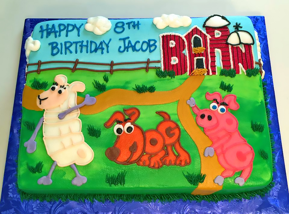 Excellent Kids Animal Birthday Cakes Hands On Design Cakes Personalised Birthday Cards Akebfashionlily Jamesorg