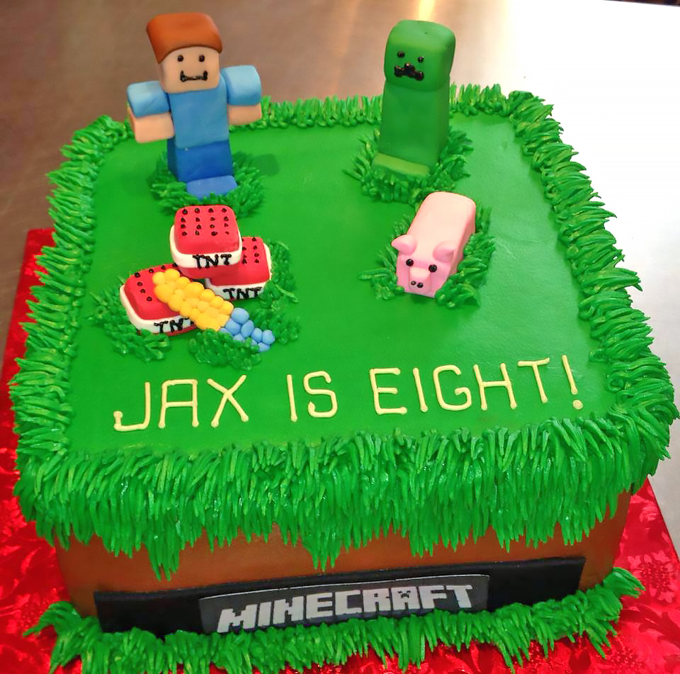 Kids Minecraft Birthday Cakes Hands On Design Cakes