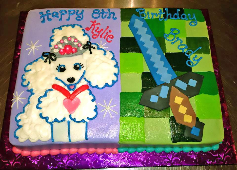 Kids Minecraft Birthday Cakes