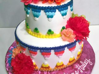 Cake, Congratulations, Flowers, Girls