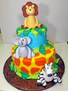 boys-birthday-2tier-jungle-lion-elephant-zebra-cake-056