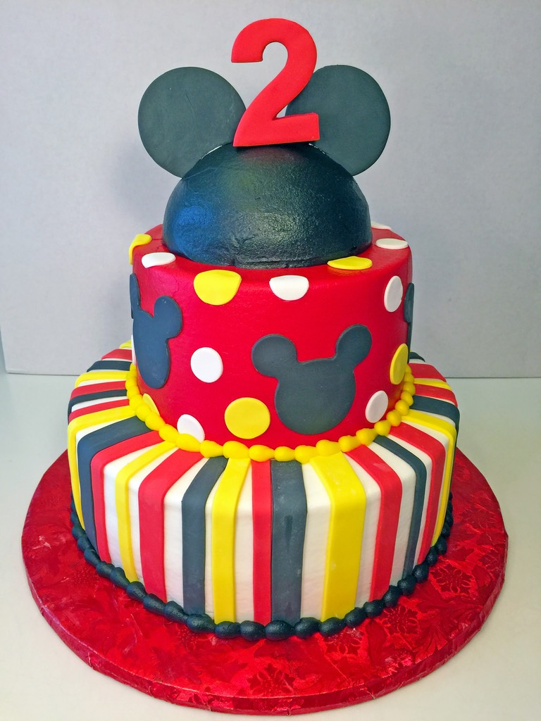 Boys Birthday Mickey Mouse 2tier 2nd Cake