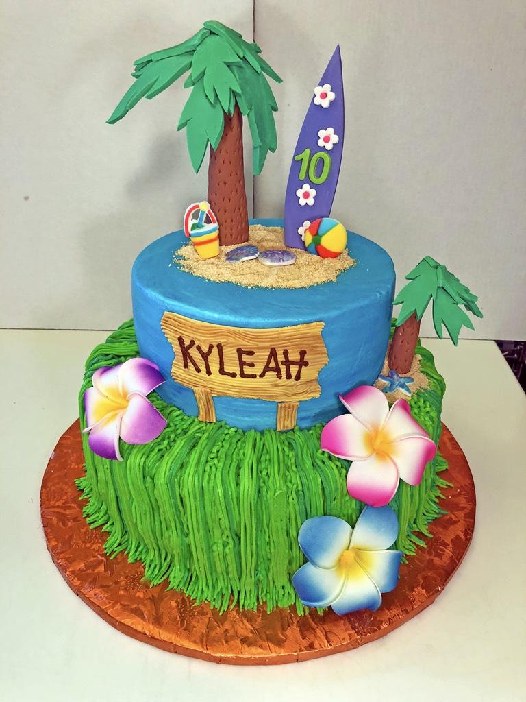 cake-girls-2tier-hawaii-beach-surfing-flowers-019