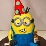 Cake, Adult, Birthday, minion, drunk