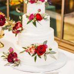 Cake, Wedding, 4tier, roses, White, Pink, Flowers